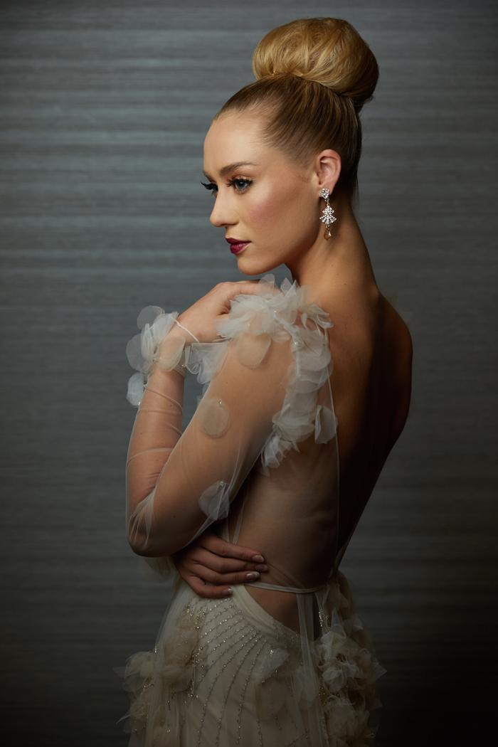 elegant bridal top knot, large bridal bun, bridal sock bun