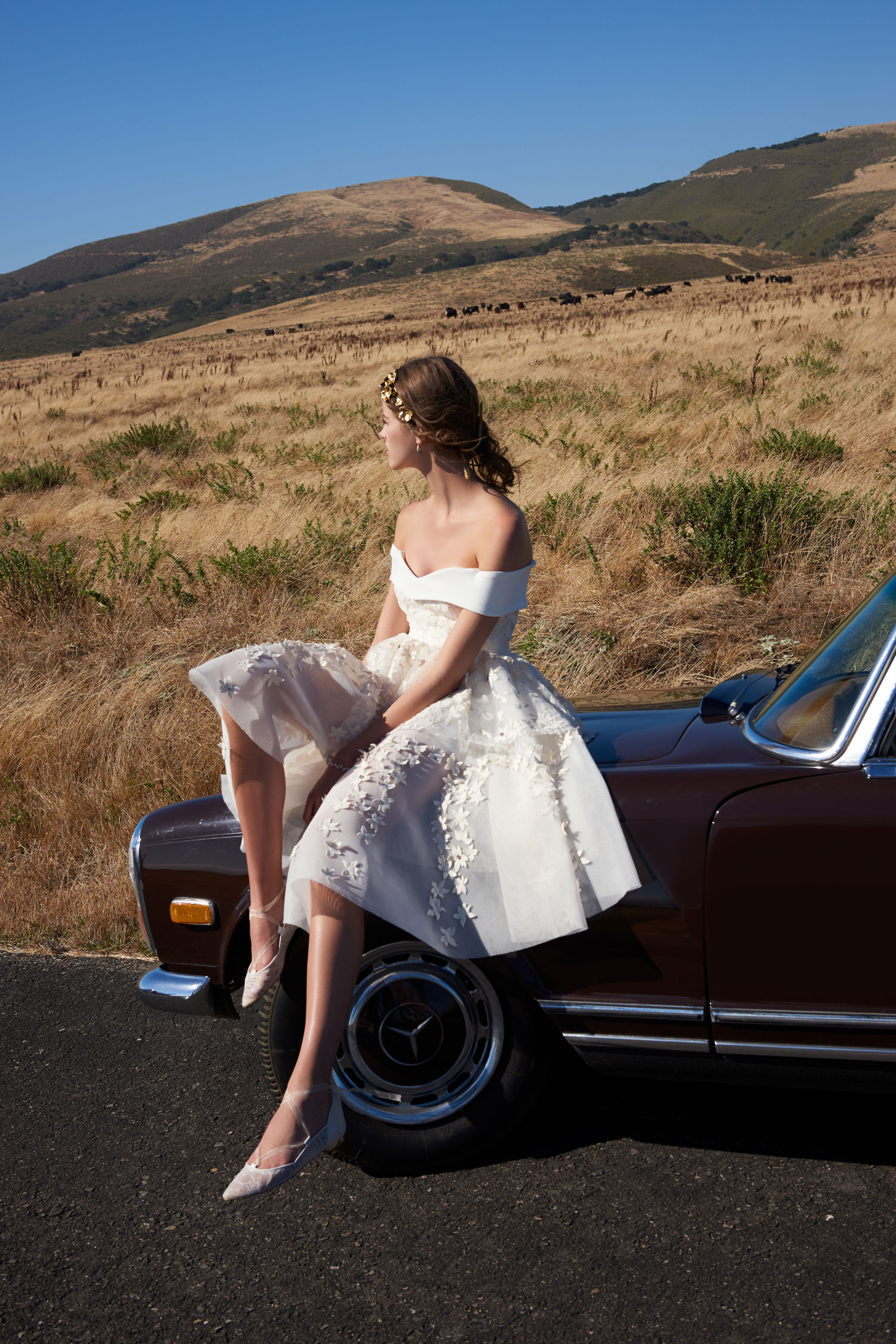 BHLDN americana collection short off the shoulder wedding dress vintage inspired shop buy now