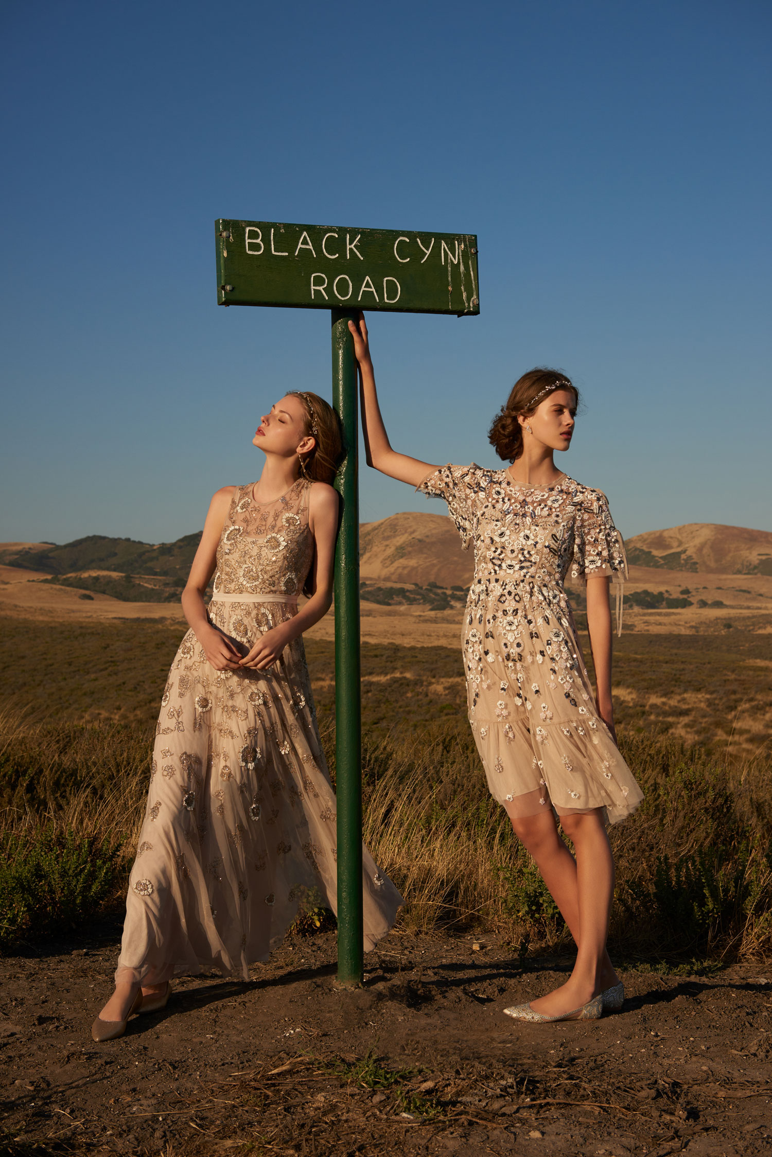 BHLDN americana collection verdure dress and majorca dress beaded styles buy now shop