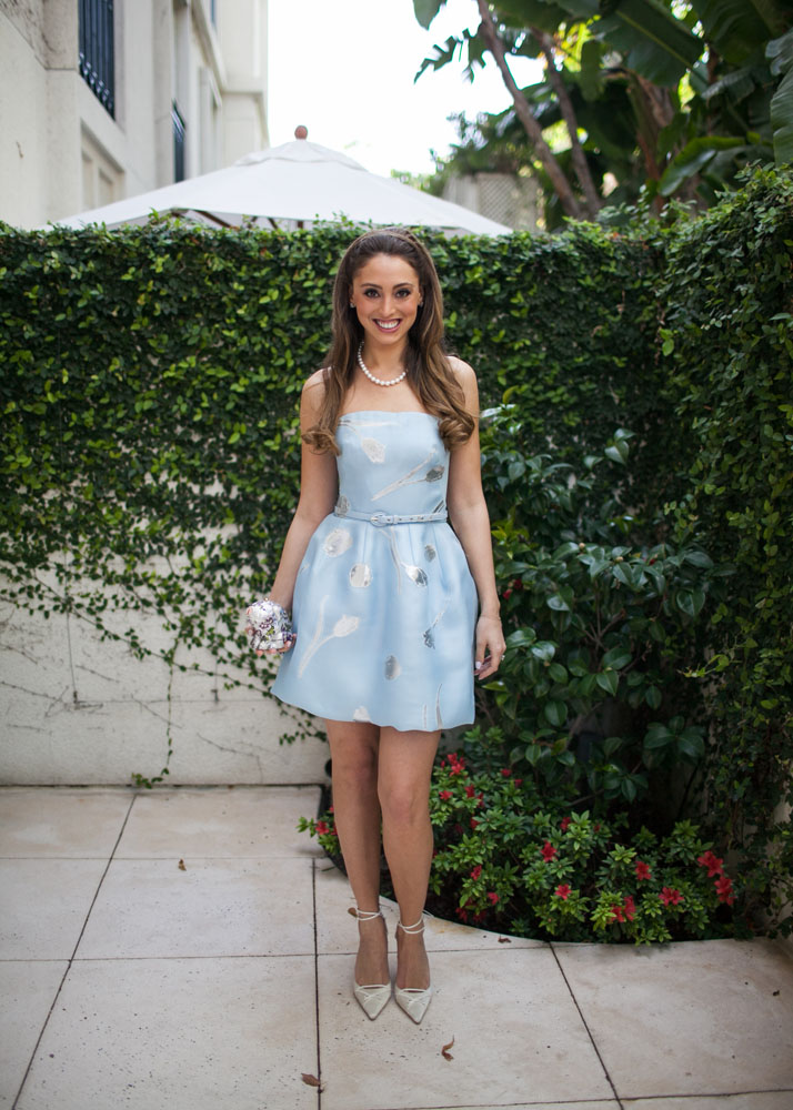 bridal shower outfit, baby blue dress with silver