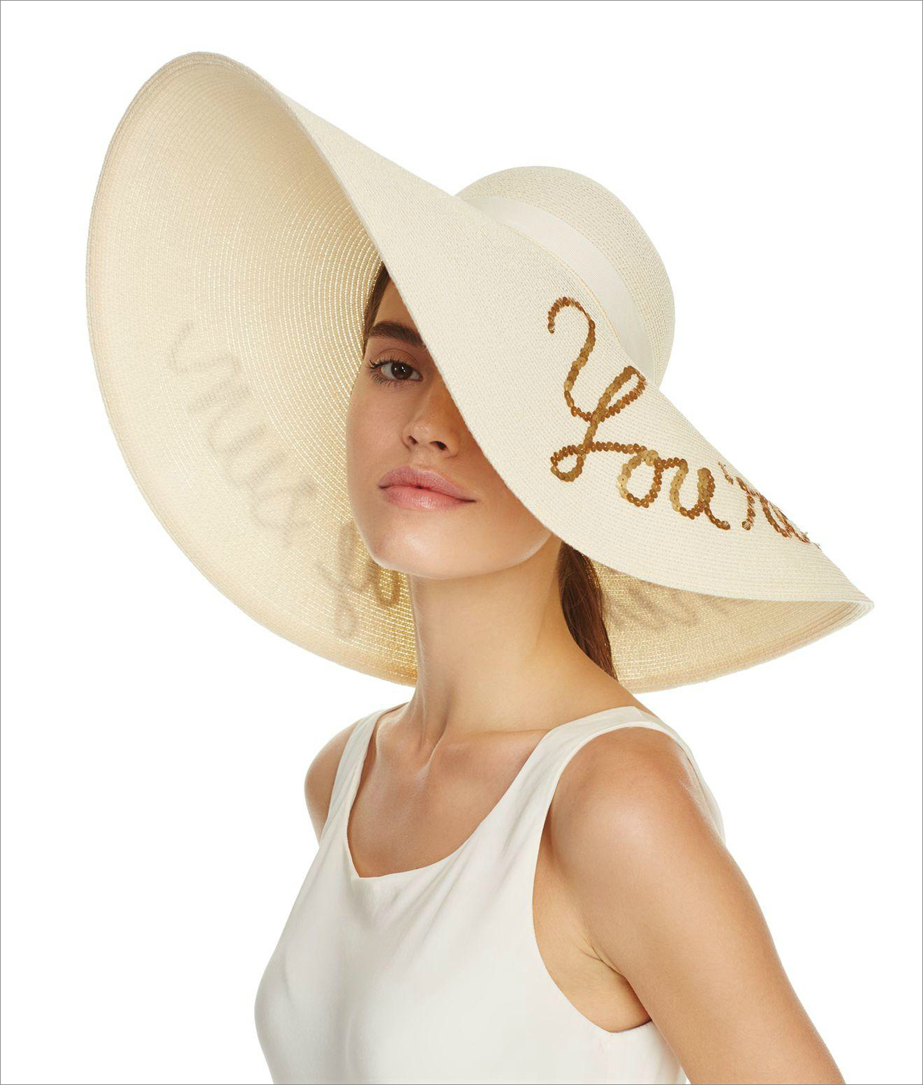 You're blocking my sun hat eugenia kim from bloomingdale's honeymoon outfit ideas