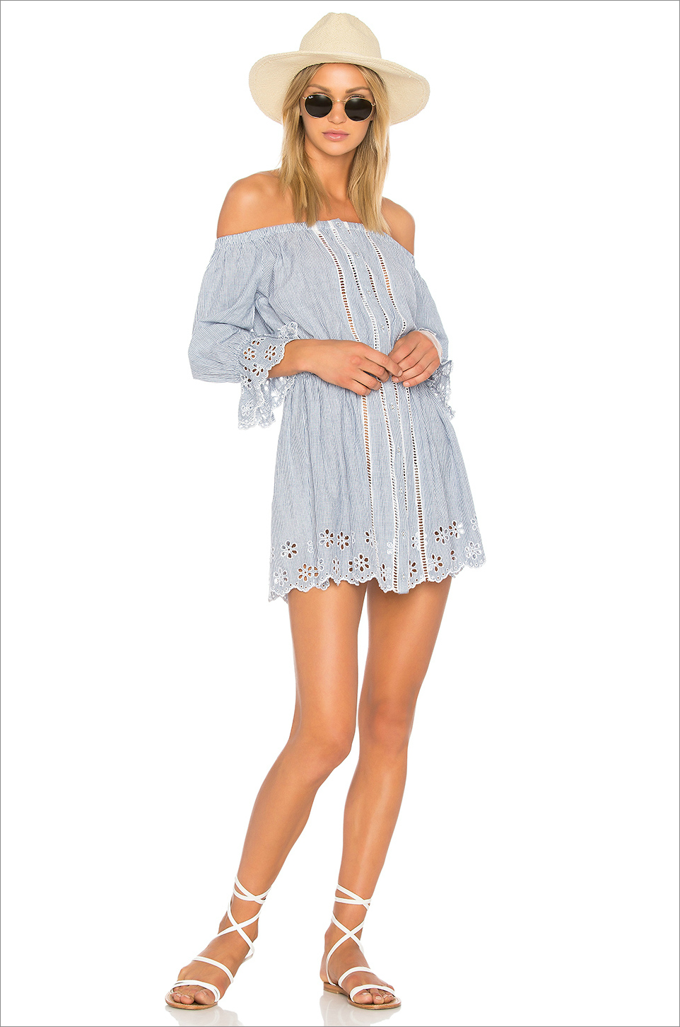 X Revolve Bonita blue day dress Tularose honeymoon outfit ideas