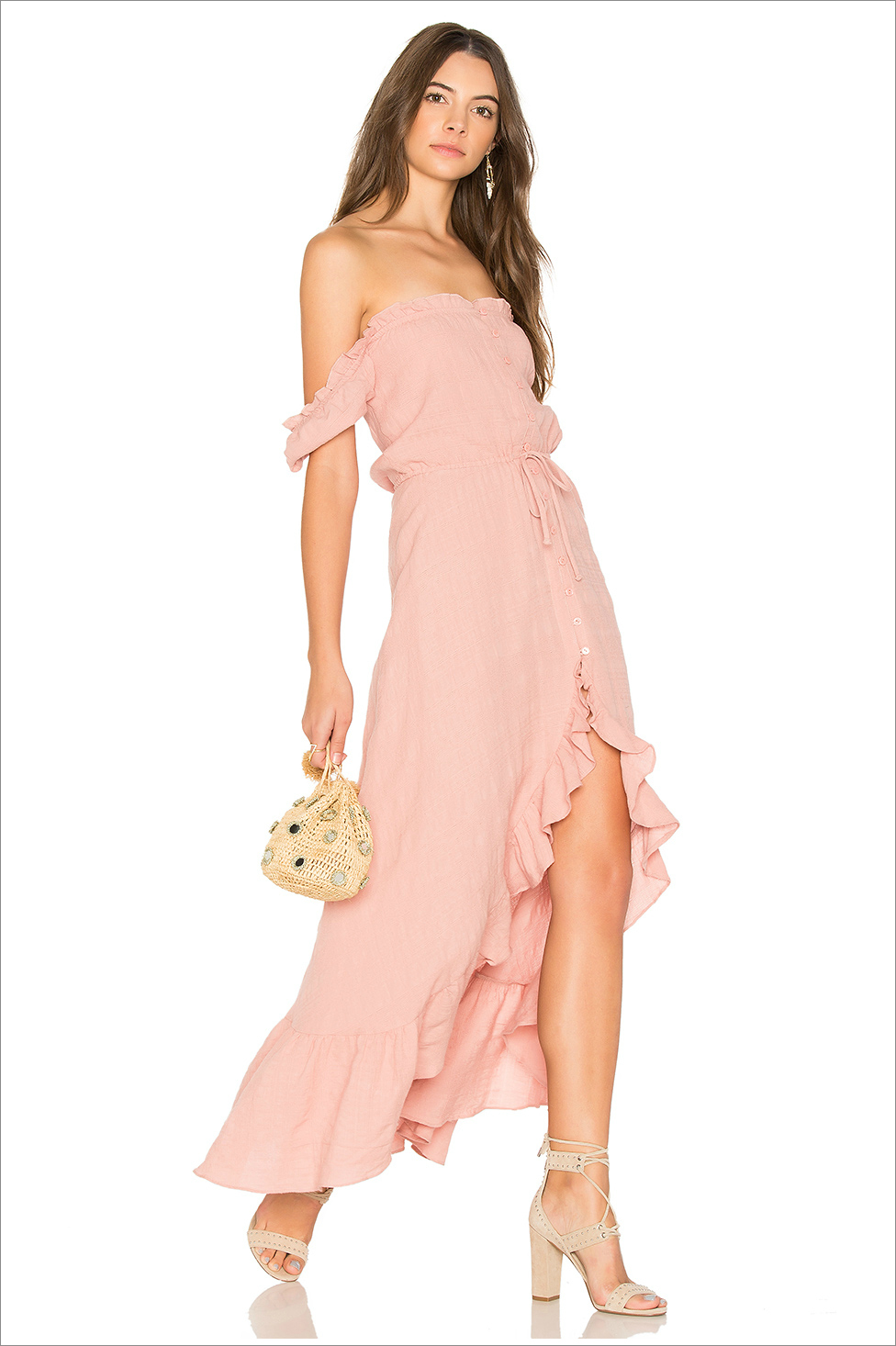Willow Day dress pink ruffle auguste revolve honeymoon outfit ideas