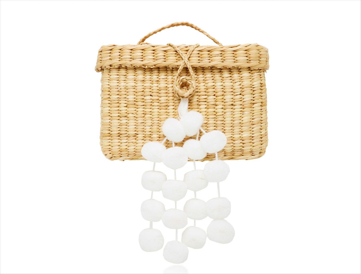 Straw raffia tote baby roge pom pom white bag nannacay moda operandi honeymoon outfit ideas