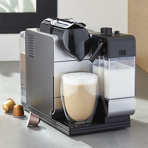 DeLonghi Silver Nespresso Lattissima Plus Espresso Maker, $399.95 by Nespresso; crateandbarrel.com