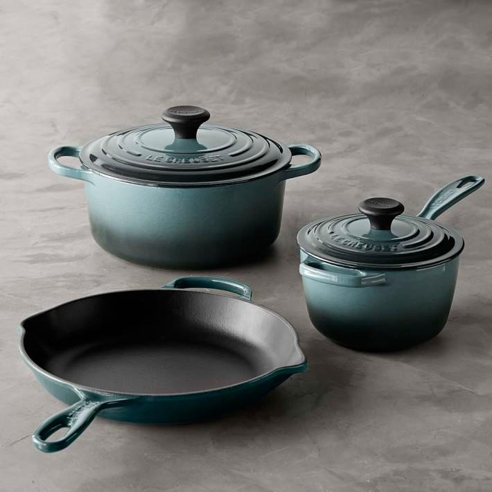 Signature Cast-Iron 5-Piece Cookware Set, $520 by Le Creuset; williams-sonoma.com