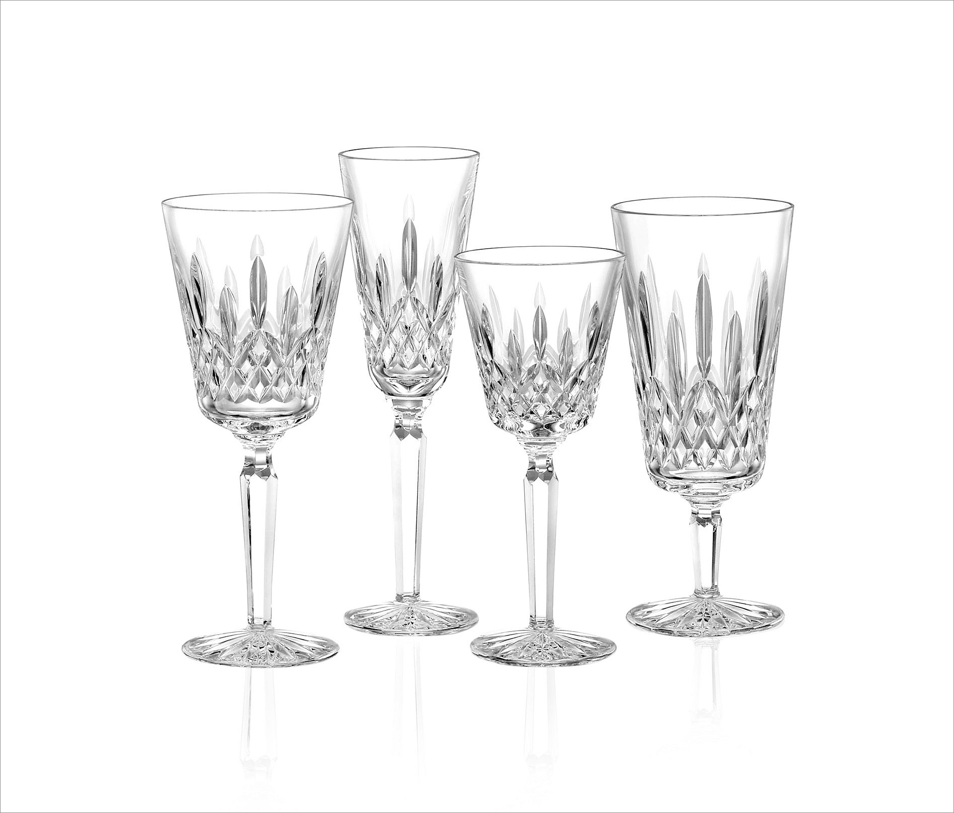 """Lismore Tall"" stemware, $75-85 by Waterford; gearys.com"