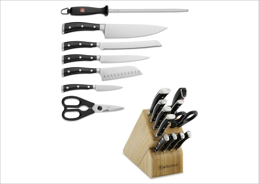 Classic Ikon 12-piece knife block set, $799.95 by Wusthof; williams-sonoma.com