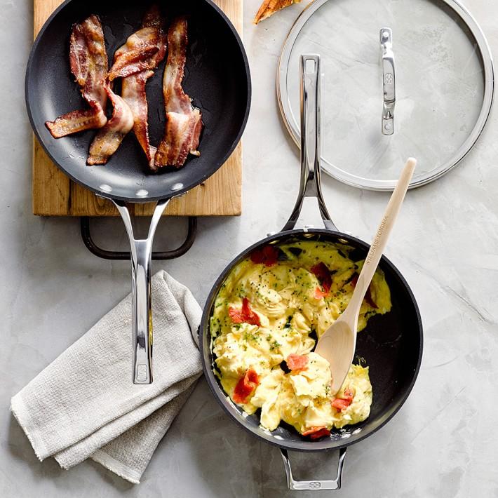 Elite Nonstick 3-piece fry pan and saute pan set, $99.95 by Calphalon; williams-sonoma.com