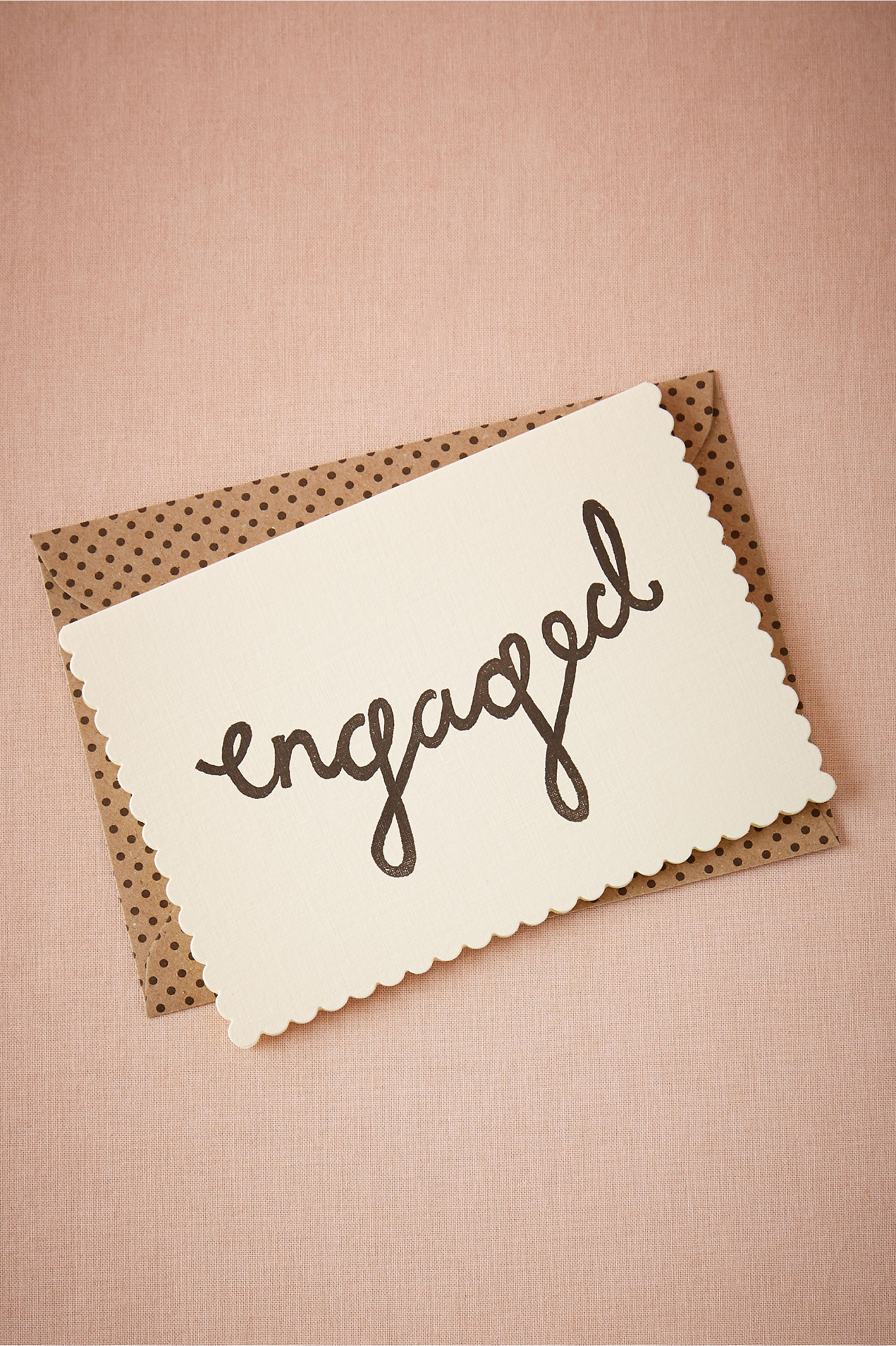 Scalloped Engaged Card, $6 by Katie Leamon; bhldn.com