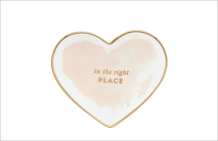 """Posy Court"" small heart dish, $20 by Kate Spade New York; katespade.com"