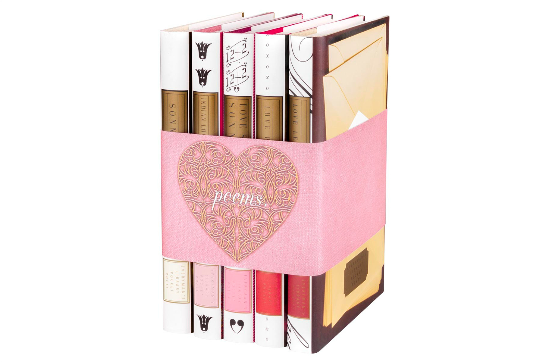 """Love Poems"" book set, $85 by Juniper Books; ahalife.com"