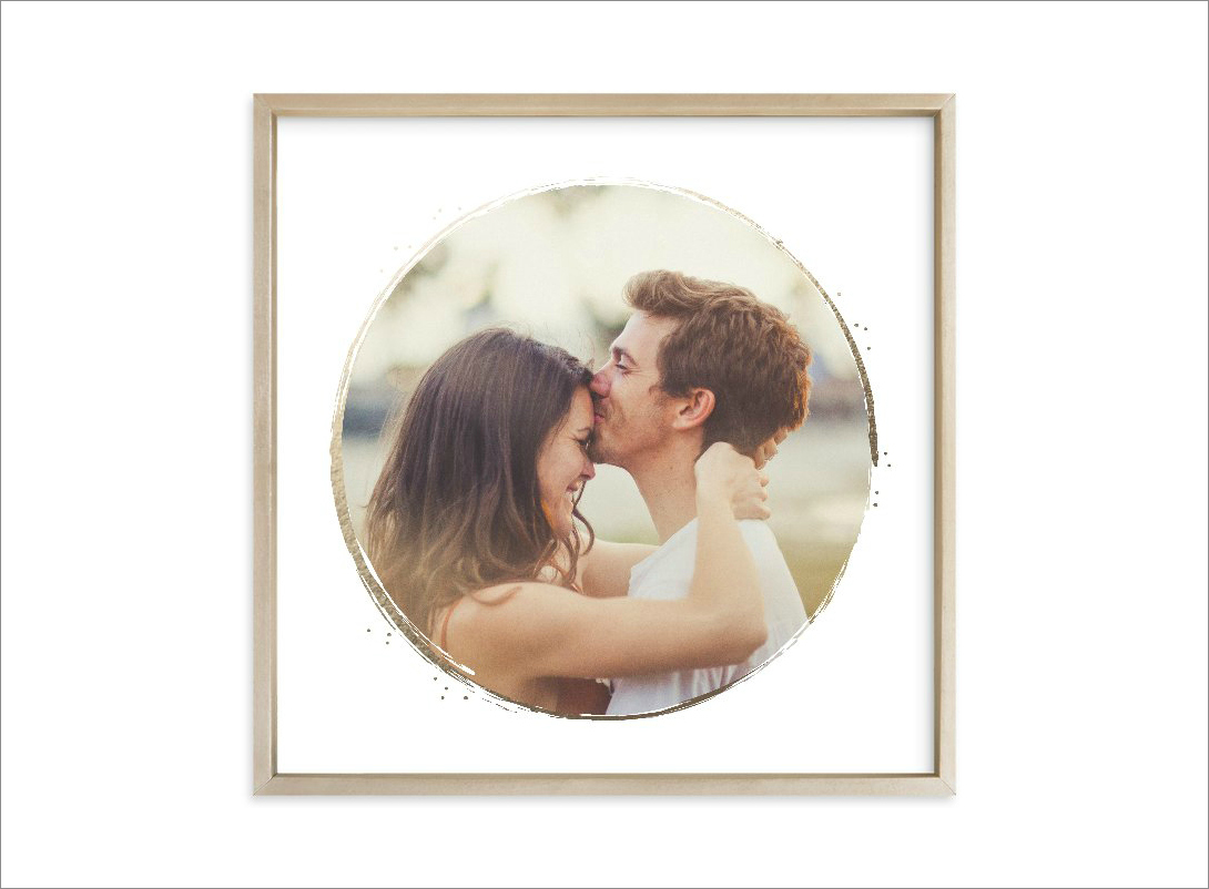 """Lightly Gilded"" custom photo art, starting at $77.50 by Jessica Williams for Minted; minted.com"