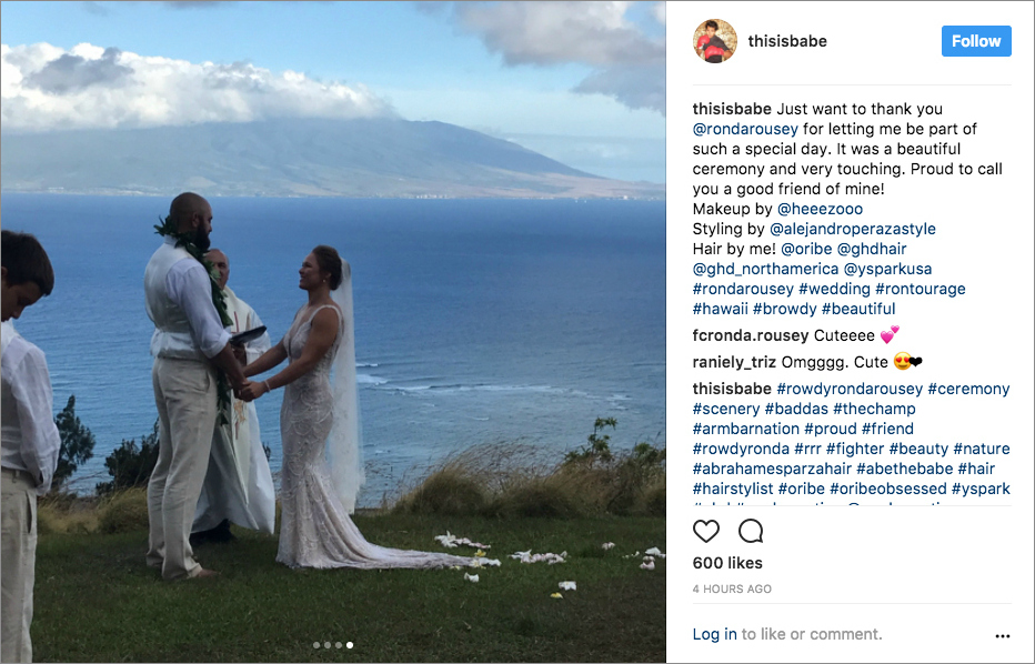 Ronda Rousey And Travis Browne Are Married! Photos From