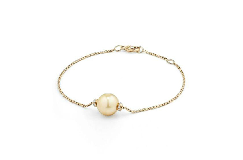 Yellow gold and pearl bracelet from David Yurman