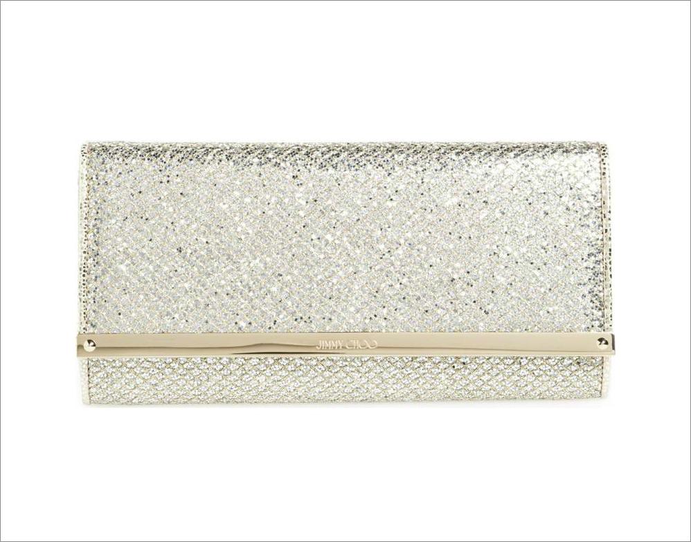 Jimmy Choo bridal wedding day clutch bag wallet on chain