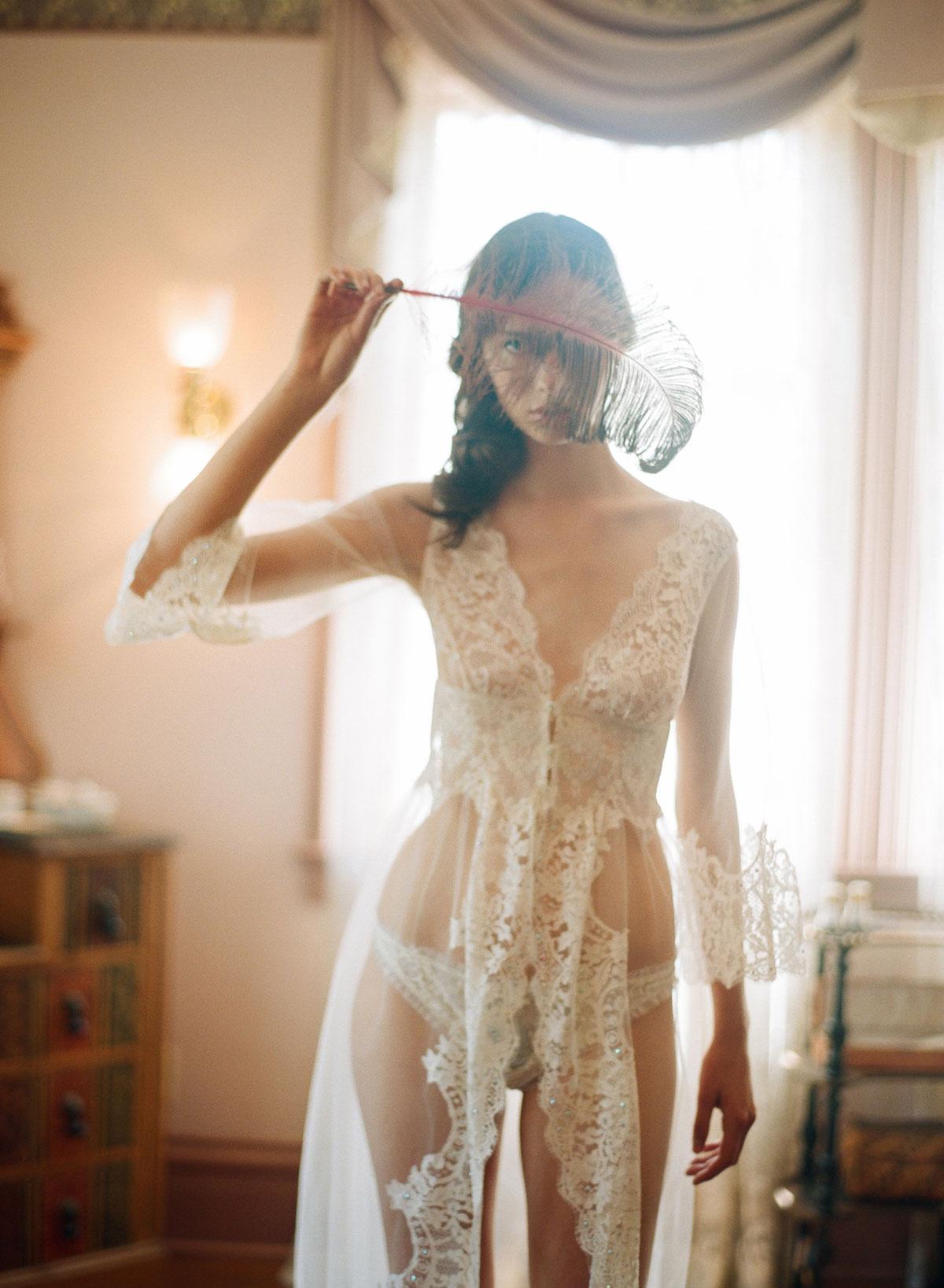 Claire Pettibone lingerie la scala lace robe