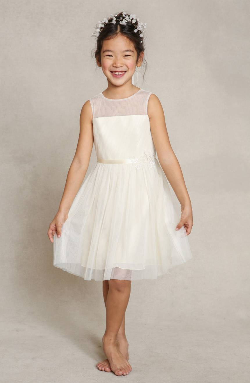 Zoe illusion detail flower girl dress by Jenny Yoo from Nordstrom