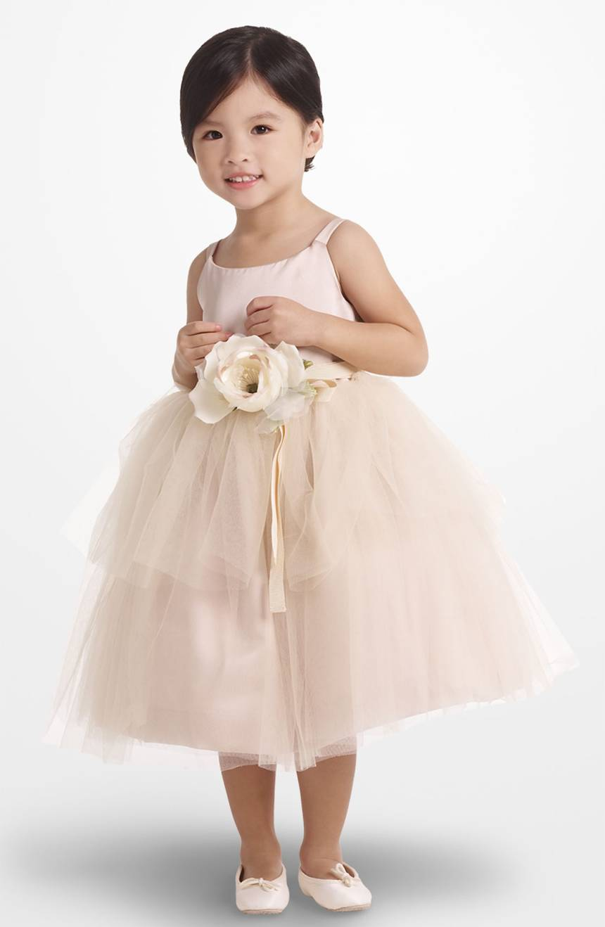 Blush tulle flower girl dress from Nordstrom