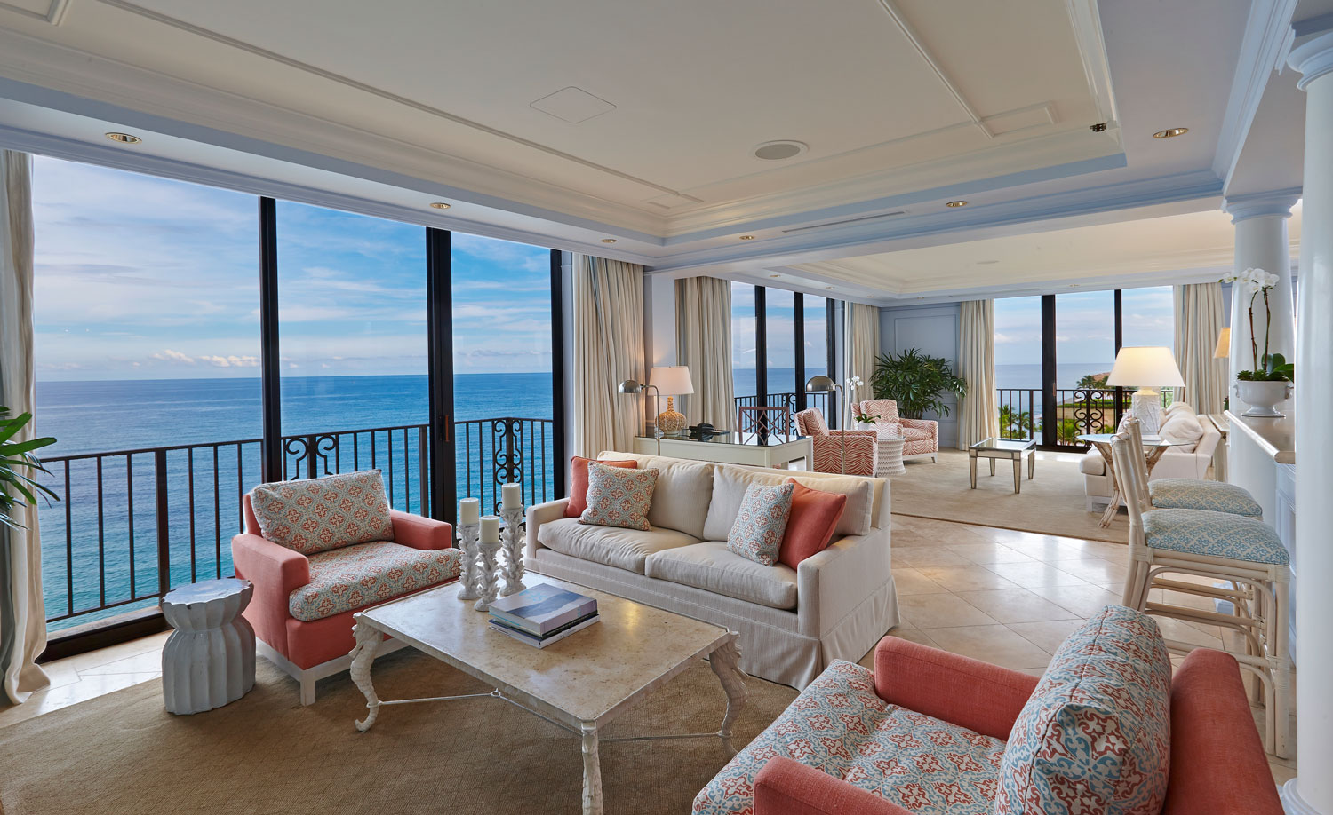 Imperial Suite at The Breakers ocean front view Florida palm beach honeymoon hotel ideas