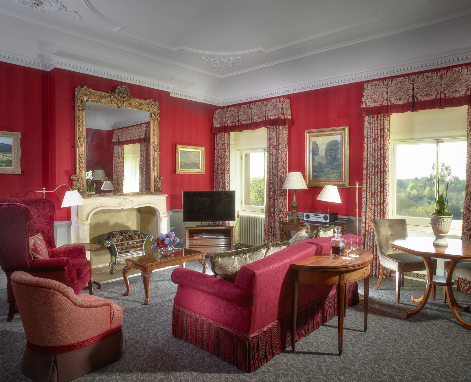Prince of Wales Suite at Cliveden House honeymoon hotel ideas