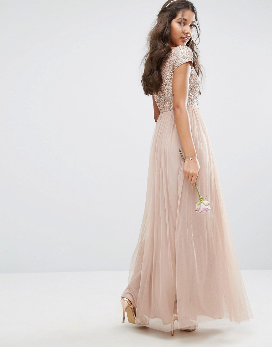 Bardot maxi dress asos bridesmaid dress ideas under 150