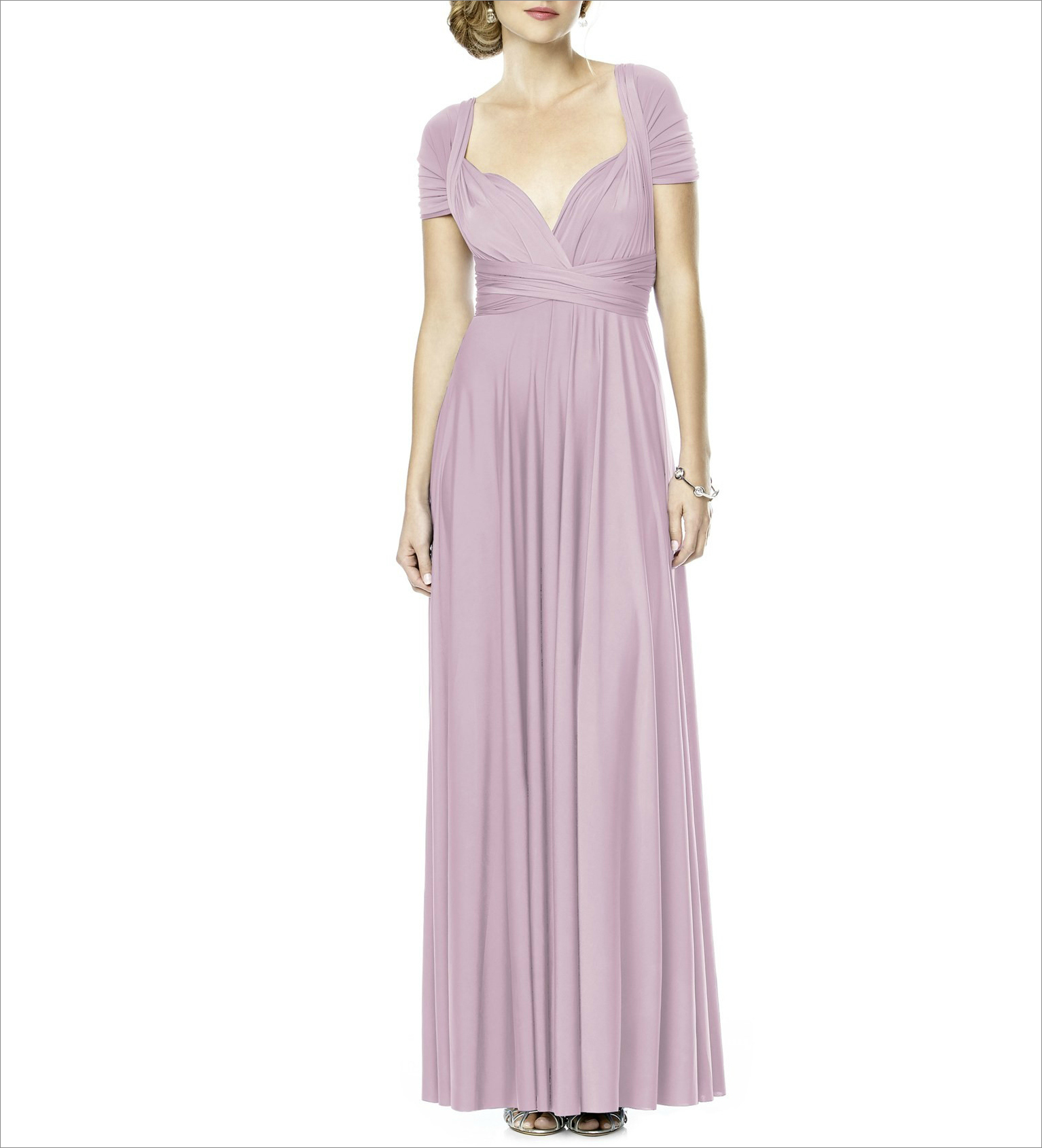 Lavender convertible wrap dress bridesmaid dress ideas under 150