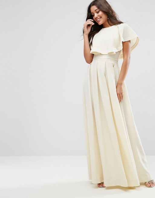 ASOS one shoulder ivory bridesmaid dress ideas under 150