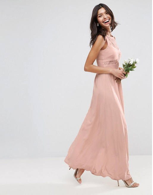 Pleated blush bridesmaid dress ideas under 150 asos