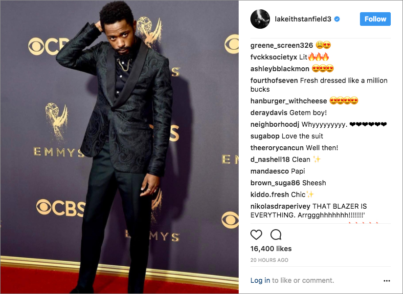lakeith stanfield emmy awards 2017 atlanta