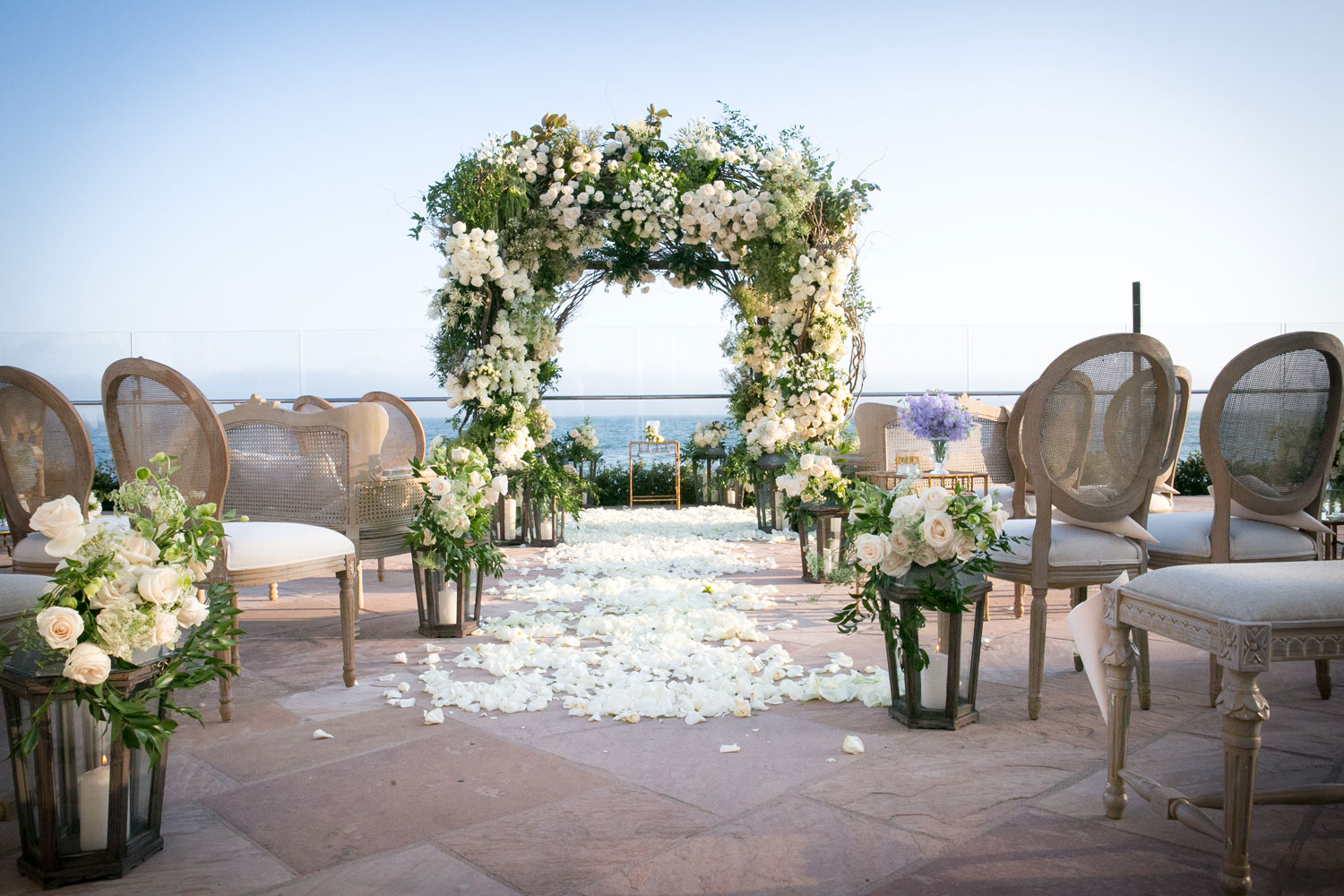 Inside Weddings Fall Winter 2017 Issue Preview oceanfront wedding pretty soft neutral levine fox events