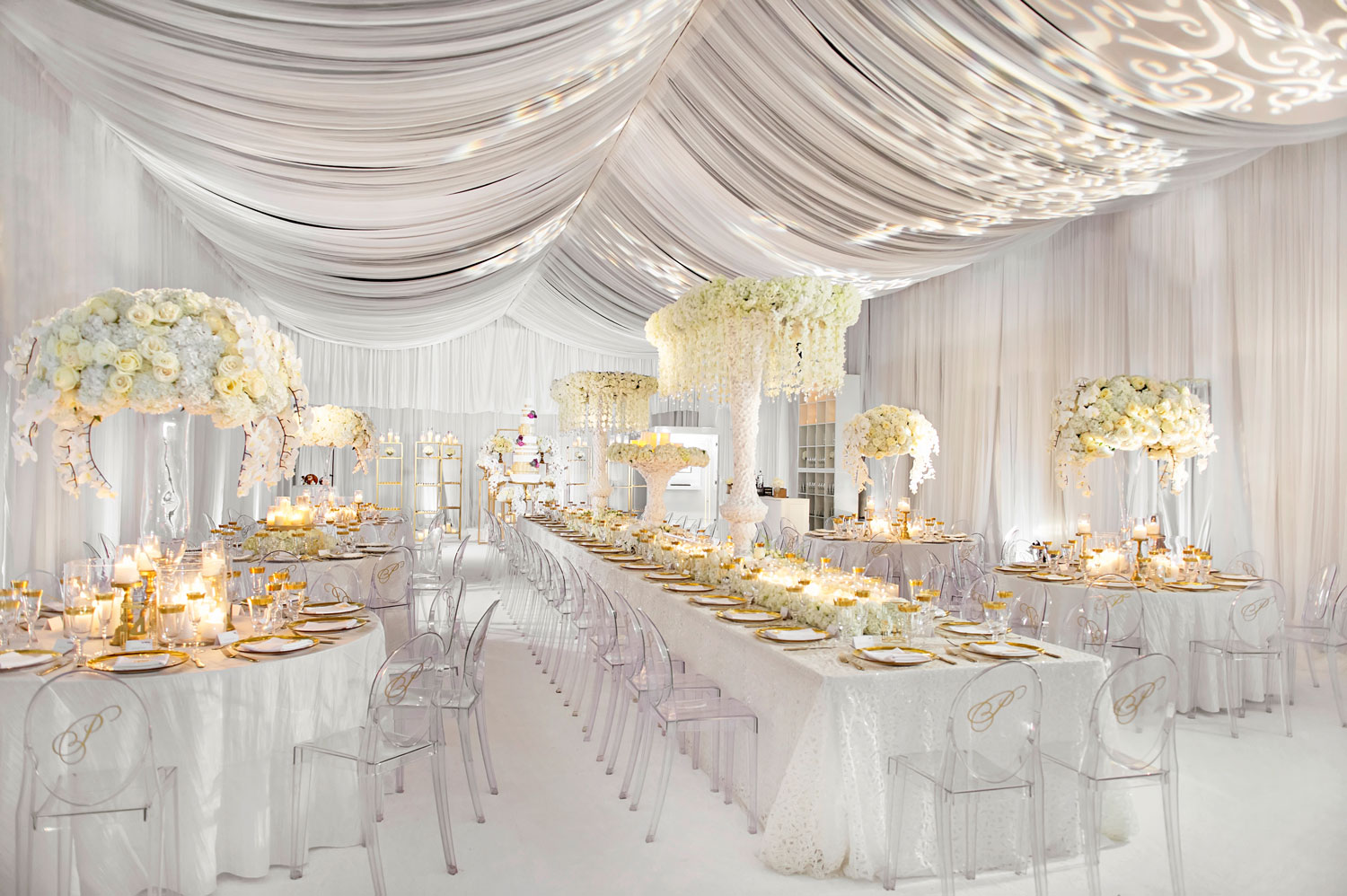 Inside Weddings Fall Winter 2017 Issue Preview all white wedding decor opulent reception