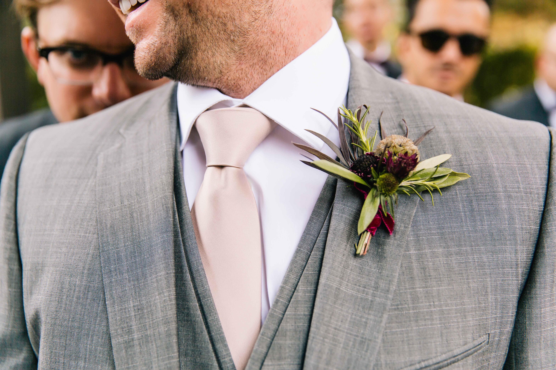 Fall theme boutonniere wedding ideas
