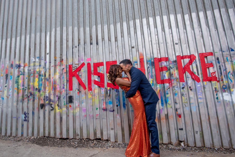 The Dumbo neighborhood Brooklyn new york engagement shoot