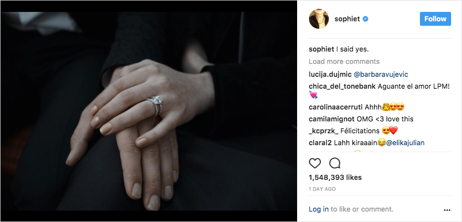 sophie turner joe jonas engaged, sophie turner engagement ring, pear diamond
