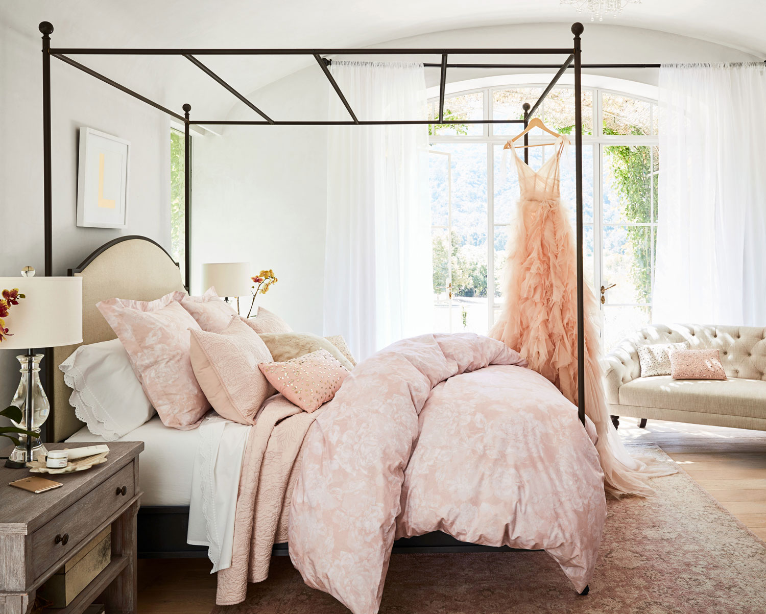 Monique Lhuillier for Pottery Barn collection bedding