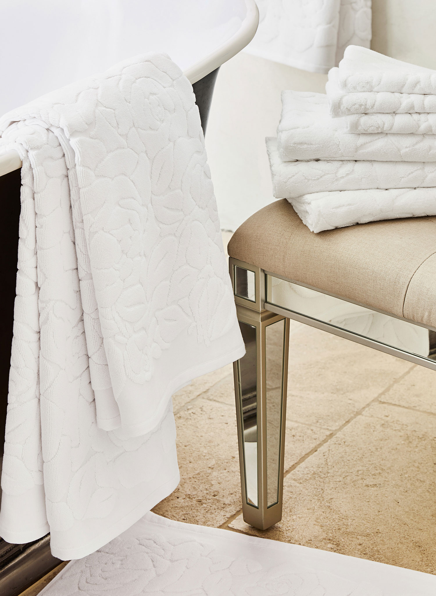 Monique Lhuillier for Pottery Barn collection towels