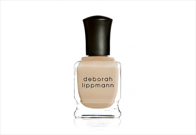 Wedding day manicure ideas nude cream deborah lippman shifting sands color