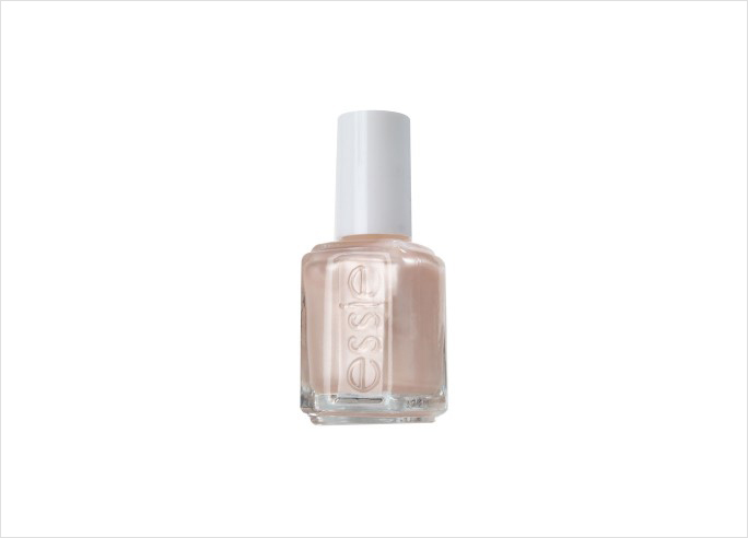 Essie imported champagne nude nail polish ideas wedding day manicure
