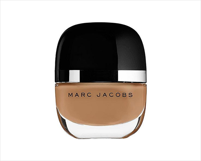 Deep nude nail polish color Madame from Marc Jacobs Beauty wedding manicure ideas