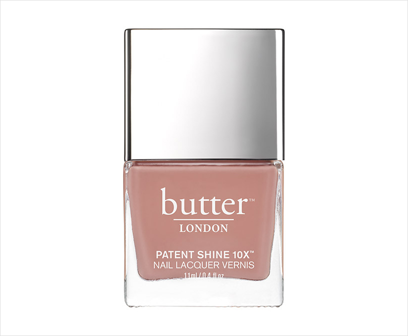 Nude pink nail polish color Mums the word from butter london wedding manicure ideas