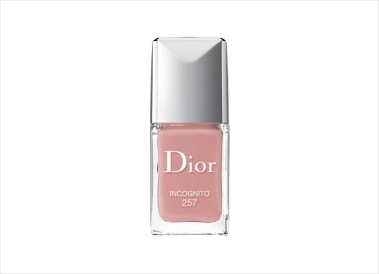 Nude pink nail polish color Incognito by Dior wedding manicure ideas