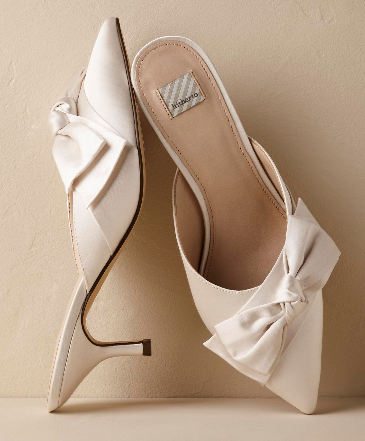 Lia mules Hitherto BHLDN white wedding shoes heels