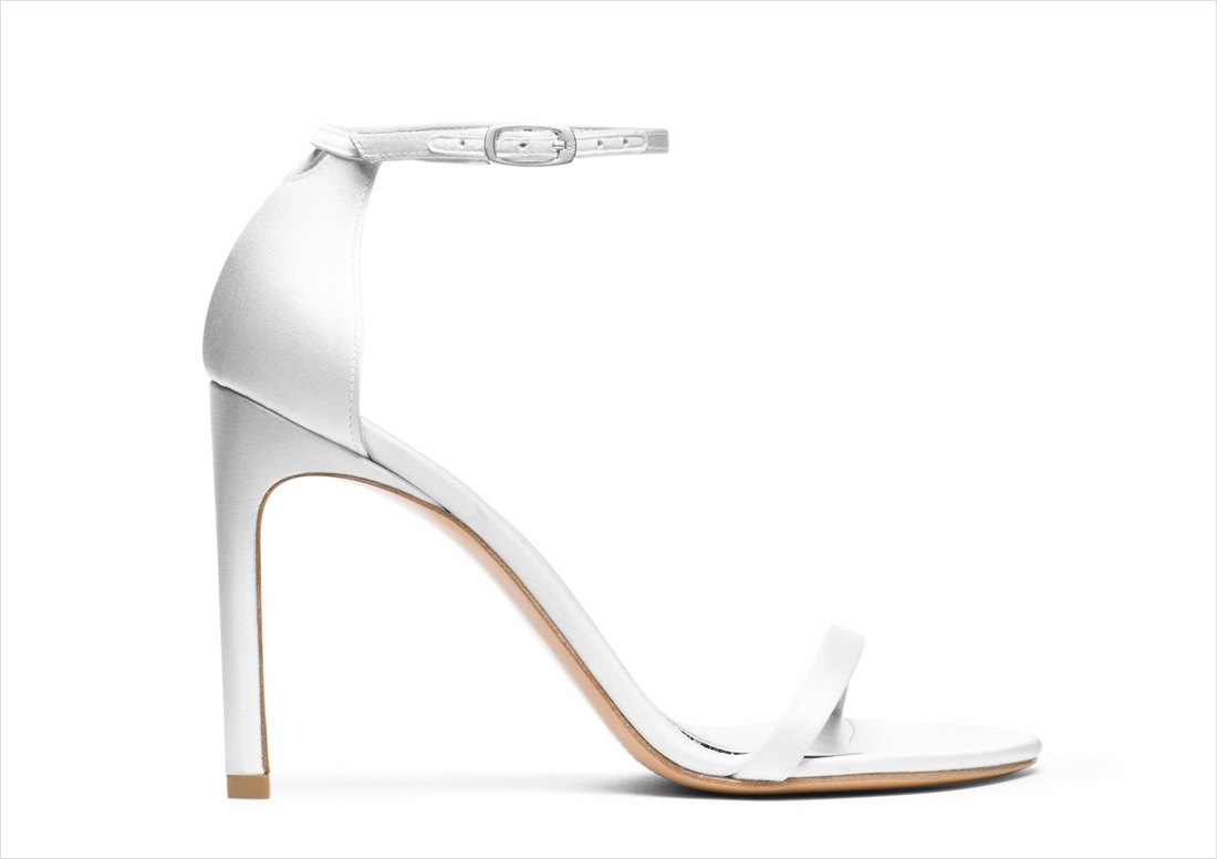 Nudistsong white wedding shoes heels Nordstrom Stuart Weitzman