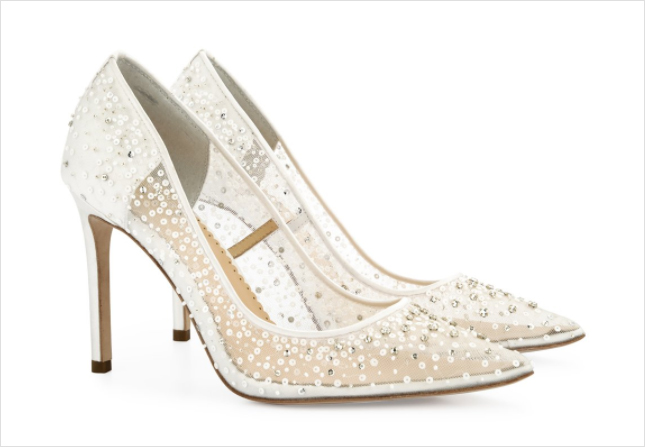 Elsa Bella Belle Shoes white ivory sequin pumps wedding shoe ideas