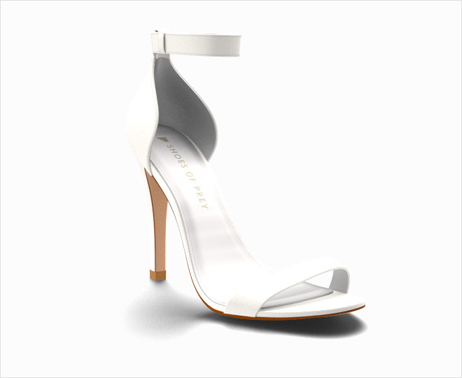 White sandal white wedding heels shoes Cielo customizable shoes of prey