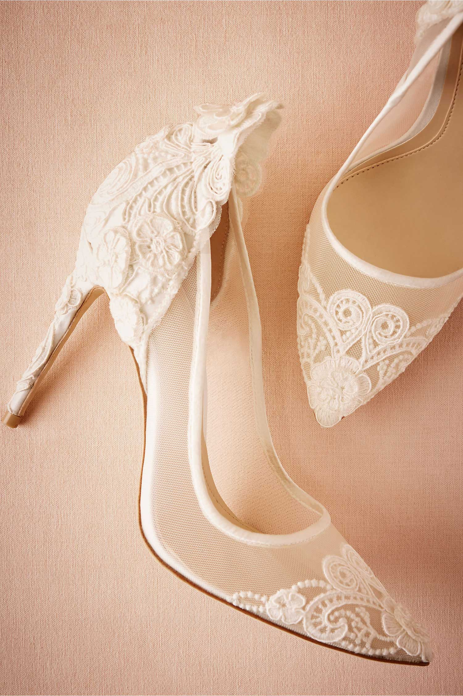 Victoria lace pumps BHLDN VInce Camuto white wedding heels shoes