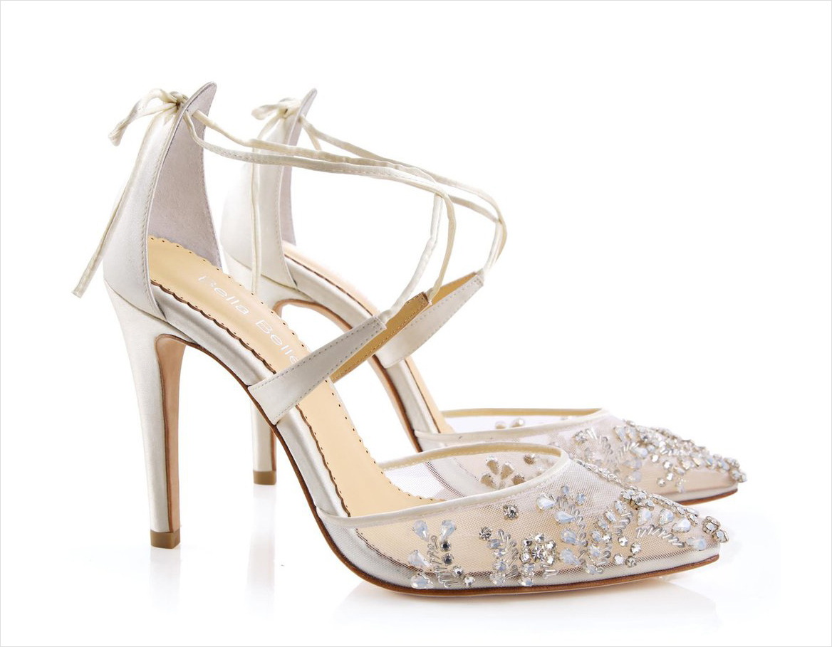 Florence beaded heels Bella Belle Shoes white wedding shoes heels