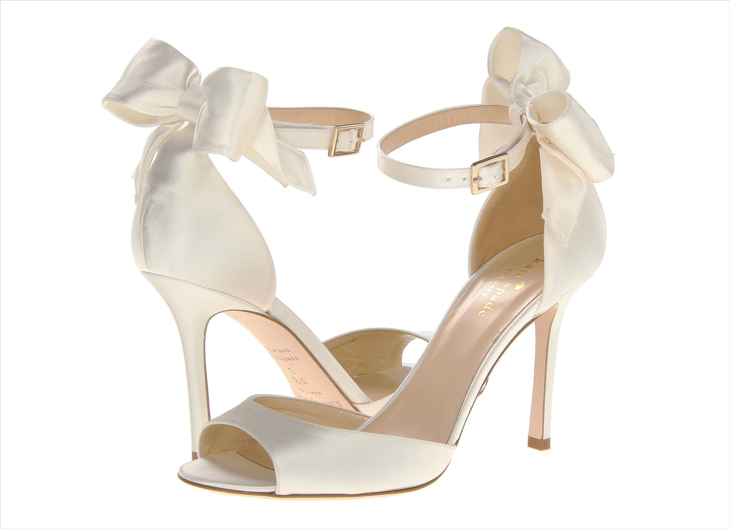 Izzie ivory kate spade new york sandal with bow in back white wedding heels shoes
