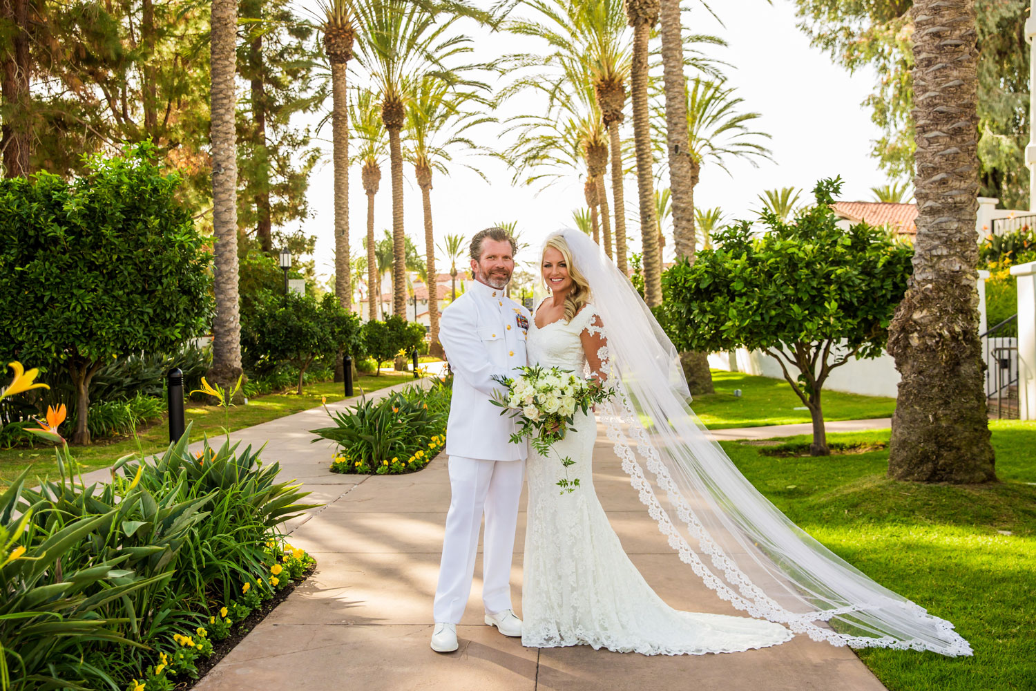 Navy Seal groom in dress whites military wedding San Diego